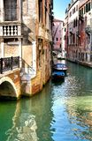 Italy. Venice. Grand and small canals and architecture stock photography