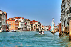 Italy. Venice. Grand and small canals and architecture stock images