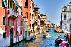Italy. Venice. Grand and small canals and architecture royalty free stock photography
