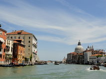 Italy Venice. Houses on the water royalty free stock image