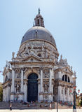 ITALY, VENICE - JULY 2012: Santa Maria Della Salute church on July 16, 2012 in Venice. Church was building in honour of escape f Royalty Free Stock Photos