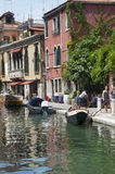 ITALY, VENICE - JULY 12, 2014: View of the streets of Venice, pa Royalty Free Stock Images