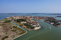 Italy, Venice, Murano Island, aerial view Royalty Free Stock Images