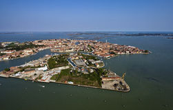 Italy, Venice, Murano Island, aerial view Stock Images