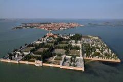 Italy, Venice, Murano Island, St. Michele Island royalty free stock image