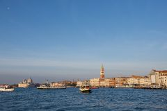 italy venice Panoramautsikt av Venedig, Grand Canal Arkivfoto