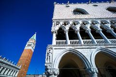 Italy, venice. piazza san marco and campanile Royalty Free Stock Photos
