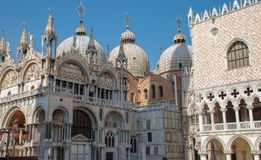 Italy, Venice, Piazza San Marco, Doge`s Palace. On a Sunny day stock photography