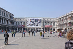Italy. Venice. San Marco square. Piazza San Marco Stock Photography