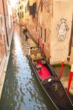 ITALY, VENICE - Sept. 7: A beautiful Gondola on the canal on Sep Royalty Free Stock Photography