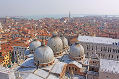Italy. Venice. St Mark's Basilica. Domes Stock Images