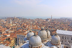 Italy. Venice. St Mark's Basilica. Domes Royalty Free Stock Images