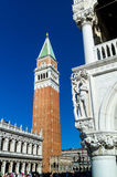 Italy, venice. st. mark's square and campanile Royalty Free Stock Image