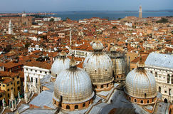 Italy. Venice.  Top view on Cathedral Stock Photography
