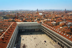 Italy. Venice.  Top view on place San Marco Stock Photos