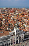 Italy. Venice.  Top view on place San Marco Royalty Free Stock Image