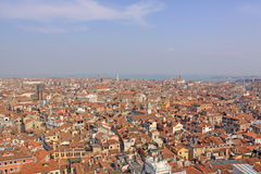 Italy. Venice.Veiw at city from Bell tower Royalty Free Stock Photography