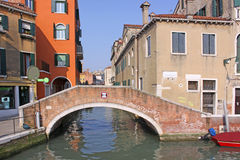 Italy. Venice. Veiw of city. Canal and bridge Stock Image