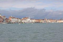 Italy. Venice. Veiw at city from sea Royalty Free Stock Photo