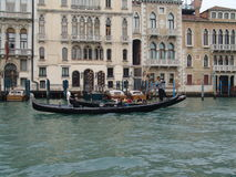 Italy. Venice. View of city. Gondola Royalty Free Stock Images