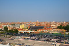 Italy. Venice. The view of the city from height. Royalty Free Stock Image