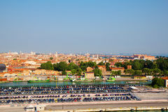 Italy. Venice. The view of the city from height. Royalty Free Stock Photo