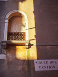 Italy, Venice, window with a sun beam.  royalty free stock photos