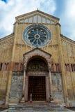 Italy, Verona, saint Zeno cathedral stock image