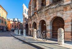 italy Verona Styczeń 6, 2019: Arena, sławny antyczny rzymski amphitheatre areny di Verona zdjęcie stock