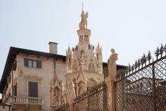 Italy, Verona Túmulos de Scaligero Scaligeri dos arcos imagens de stock