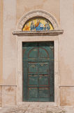 Italy, Vieste, entrance of the monastery of St. Francis Royalty Free Stock Photo