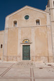 Italy, Vieste, the facade of the monastery of St. Francis Royalty Free Stock Photos