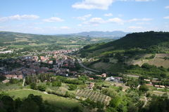 Italy. A view on an italian village stock photo
