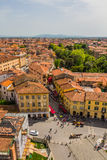 Italy: view of the old city of Pisa from the leaning tower Royalty Free Stock Image