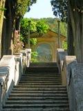 Italy villa Tuscany fresco shrine royalty free stock photos
