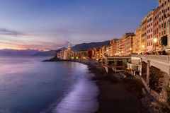 Italy, the village of Camogli Stock Images