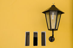 Italy vipiteno streetlight characteristic Stock Images