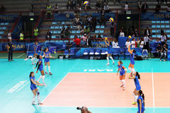 Italy volley warm up Stock Images