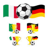 Italy vs germany soccer Stock Images
