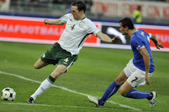 Italy vs Ireland FIFA world cup Royalty Free Stock Photo