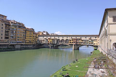 Italy. Vuew to Ponte Vecchio in Florence Royalty Free Stock Image