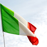 italy   waving flag in the blue sky  colour and wave Royalty Free Stock Image