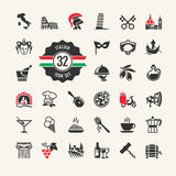 Italy web icon set. Royalty Free Stock Photo