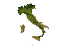 Italy On White Background Stock Photo
