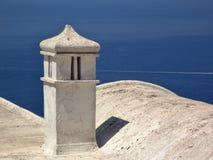 Italy, Napoli: Chimney on the Capri sea. stock images