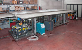 Italy wine: automatic bottling line Stock Photography