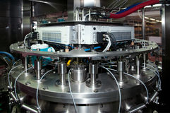 Italy wine: automatic bottling line Stock Photo