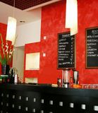 Italy wine-bar. An attractive wine-bar with wine-list  of the wines on offer up on a blackboard in the evening  in  Italy Royalty Free Stock Photo