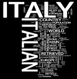 Italy word collage stock photo