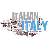 Italy word collage Stock Images